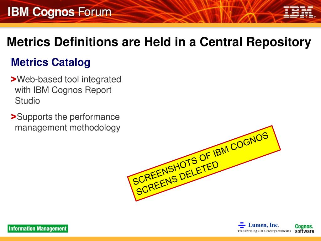 Metrics Definitions are Held in a Central Repository