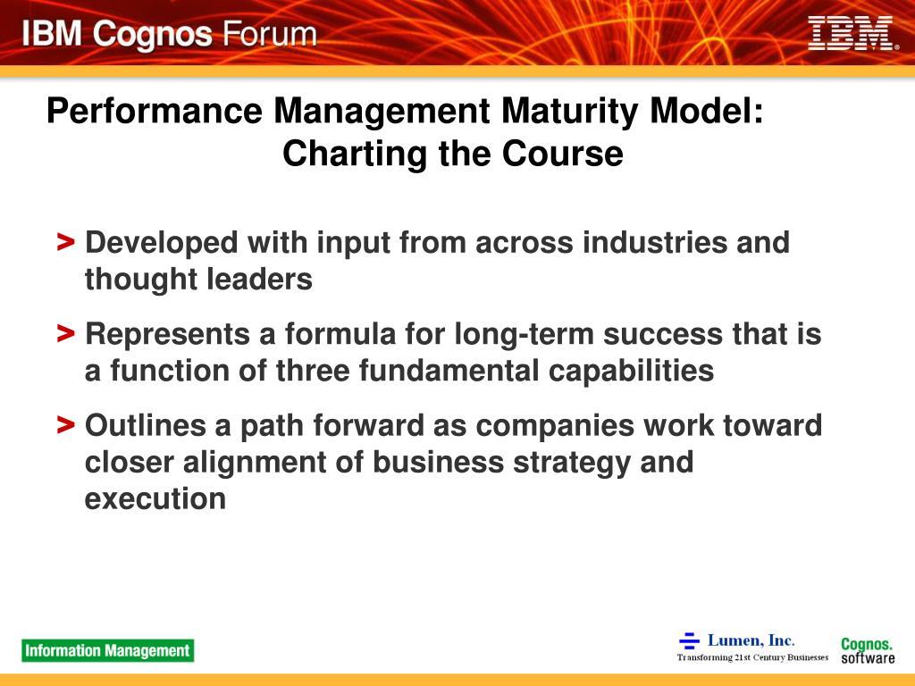 Performance Management Maturity Model: