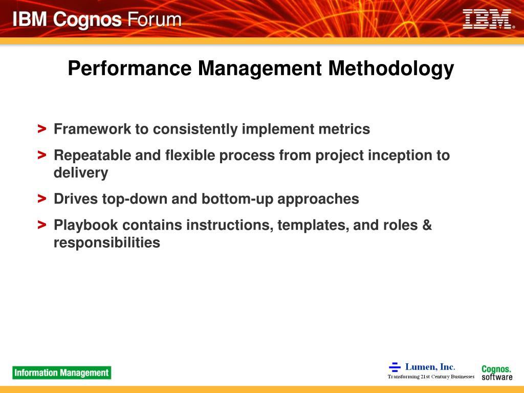 Performance Management Methodology