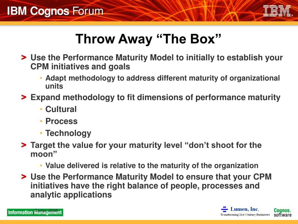 "Throw Away ""The Box"""