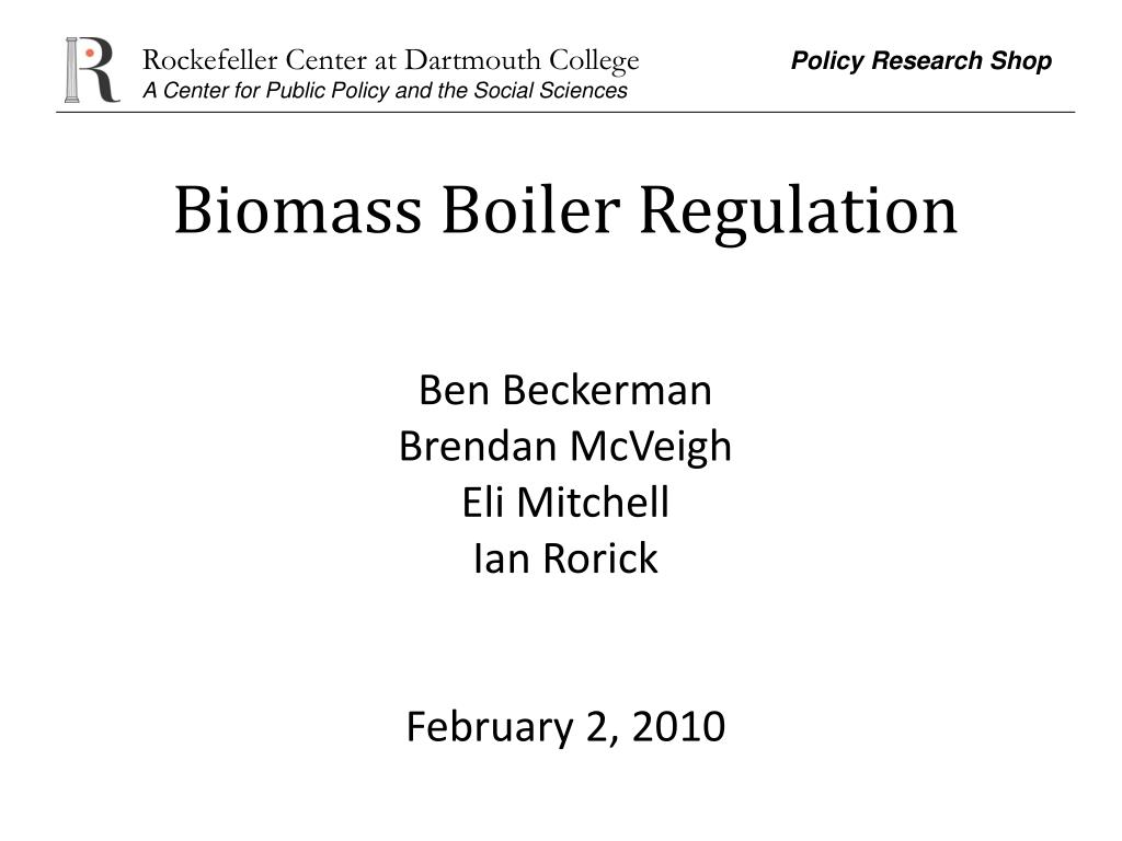 Biomass Boiler Regulation