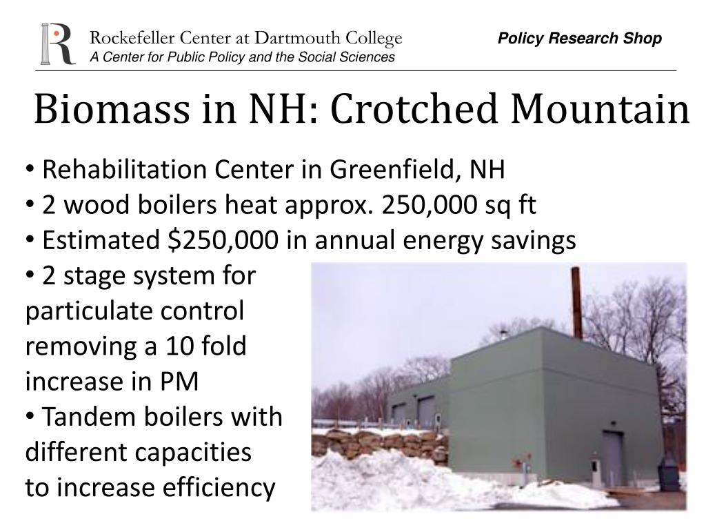 Biomass in NH: Crotched Mountain