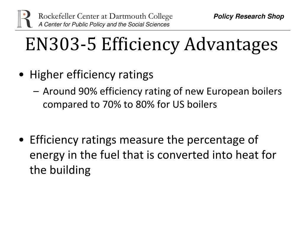 EN303-5 Efficiency Advantages