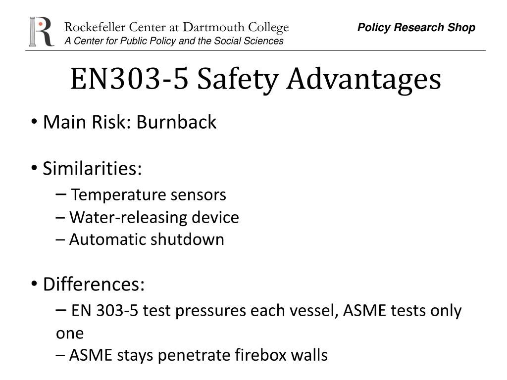 EN303-5 Safety Advantages