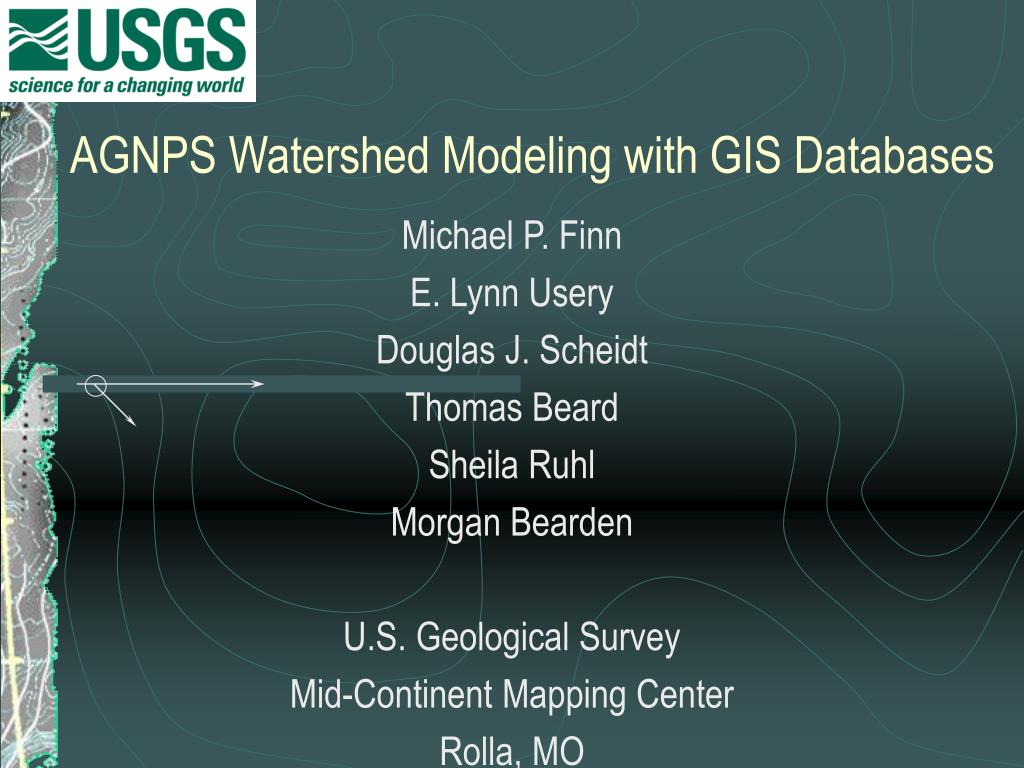 AGNPS Watershed Modeling with GIS Databases