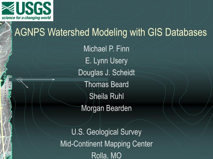 Agnps watershed modeling with gis databases2