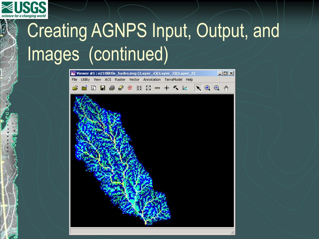 Creating AGNPS Input, Output, and Images  (continued)
