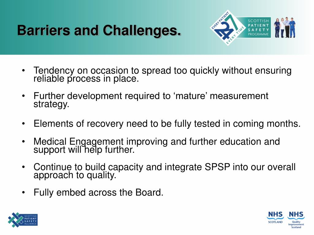 Barriers and Challenges.