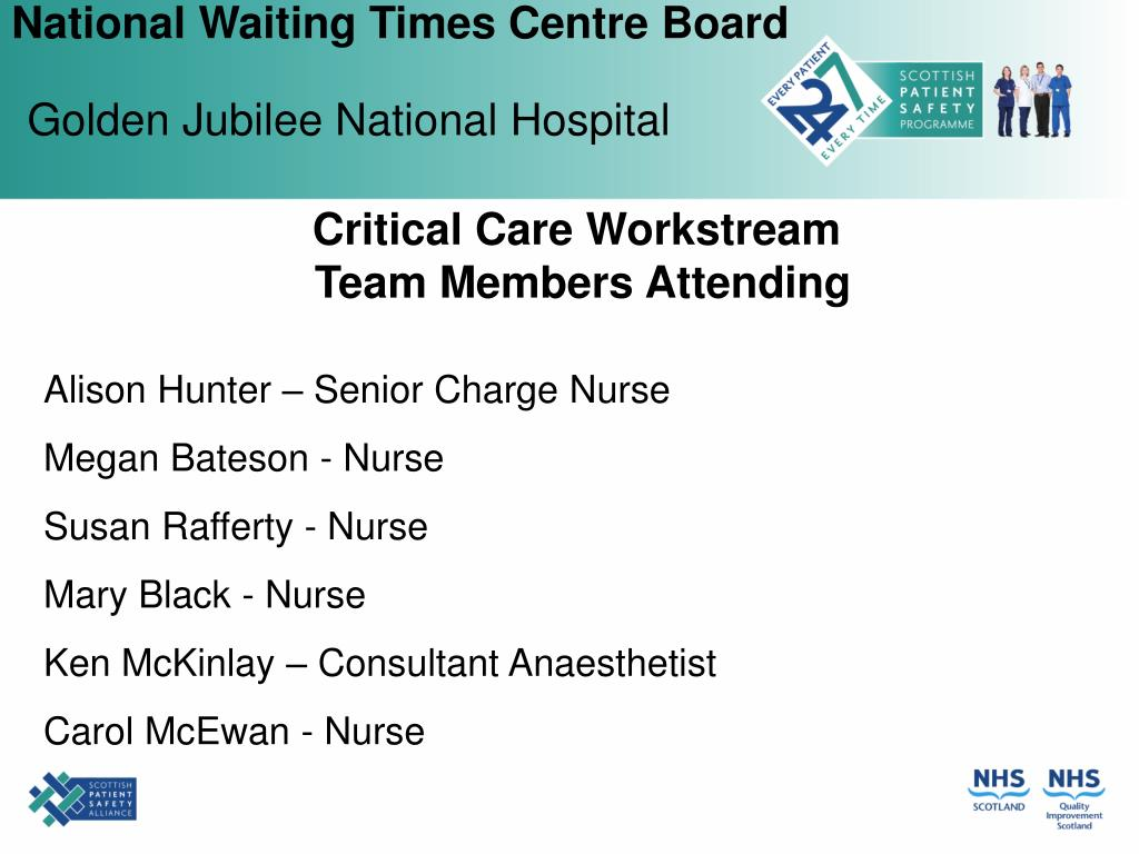Critical Care Workstream