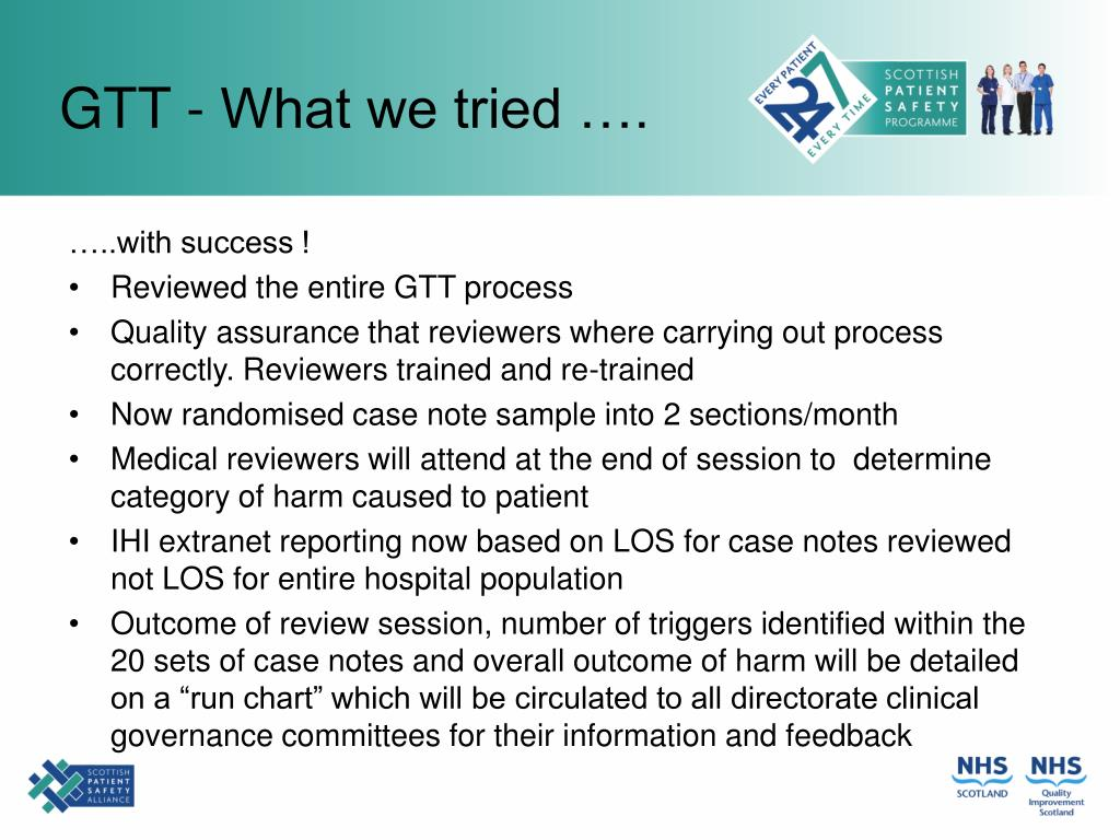 GTT - What we tried ….