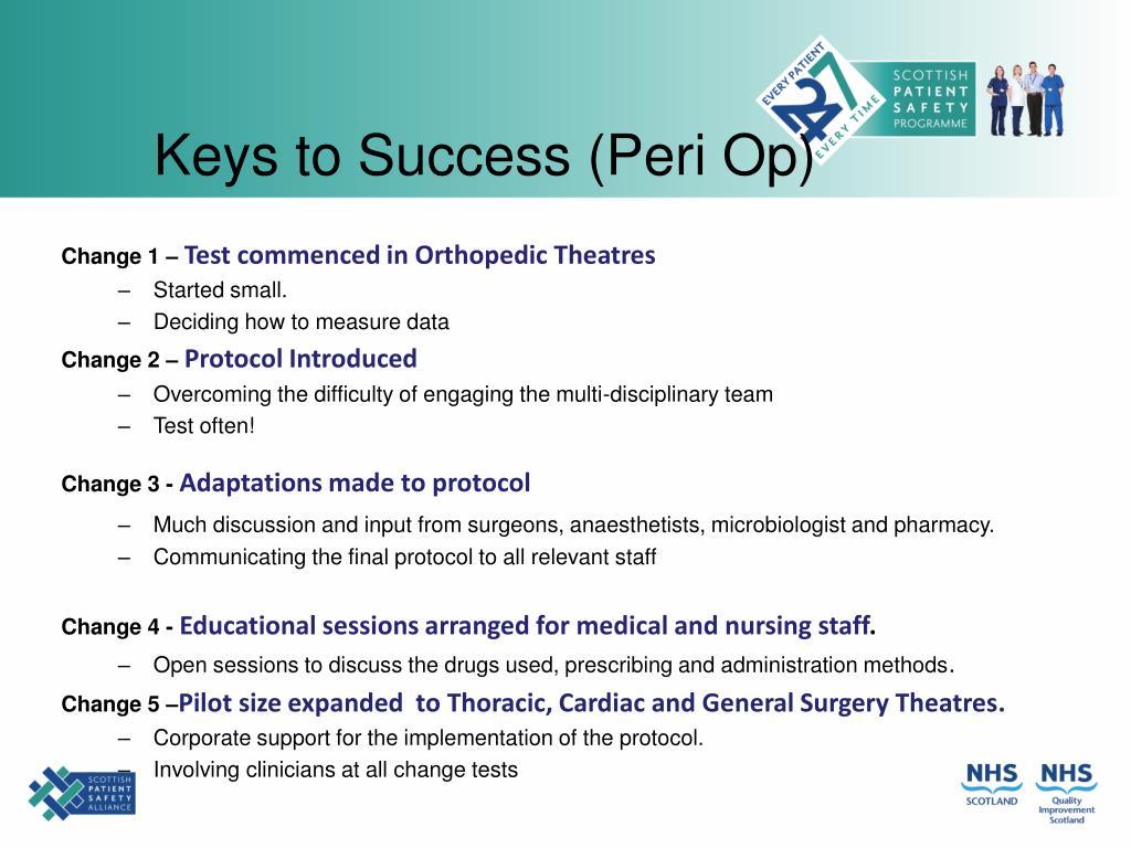 Keys to Success (Peri Op)
