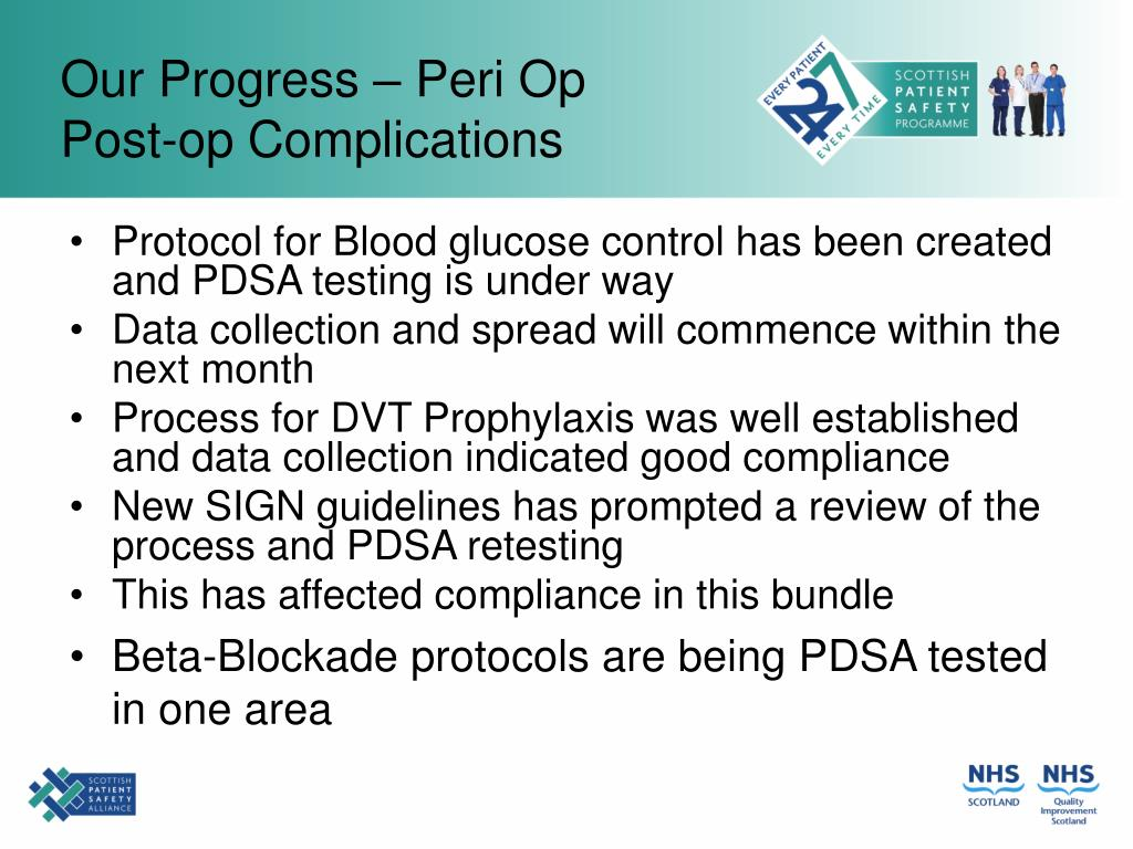 Our Progress – Peri Op