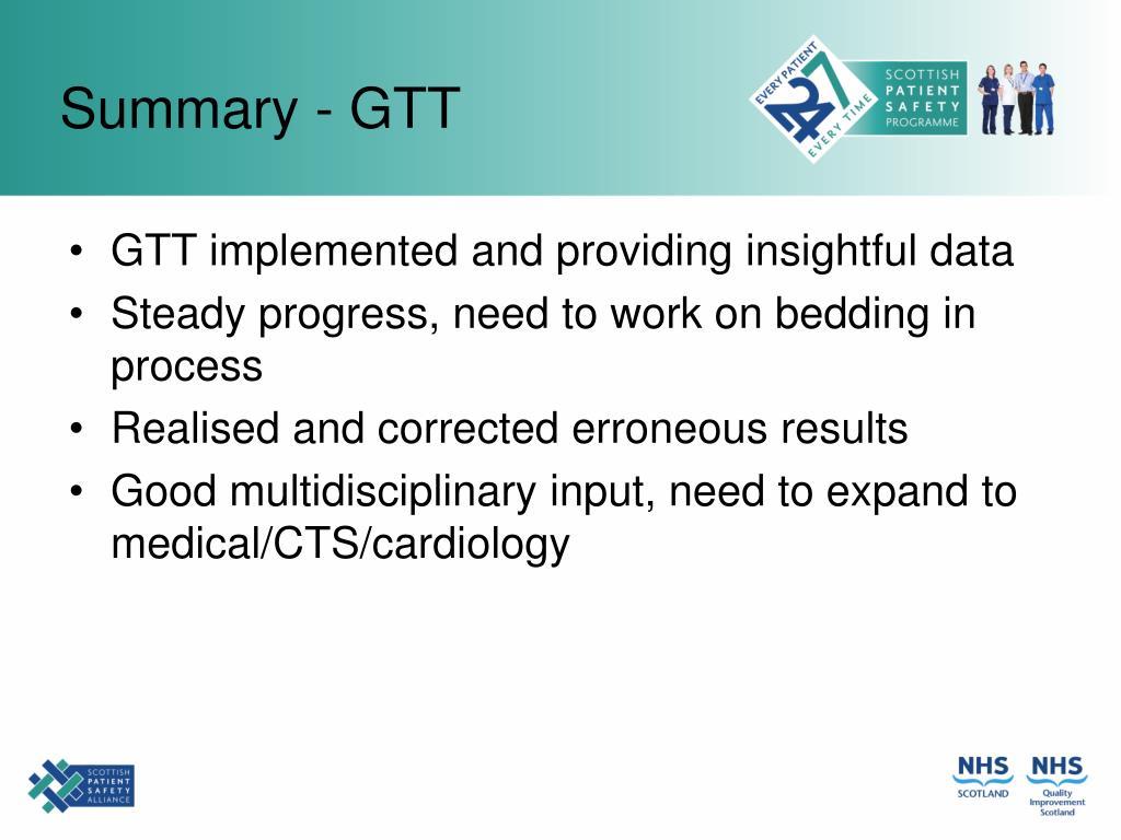 Summary - GTT