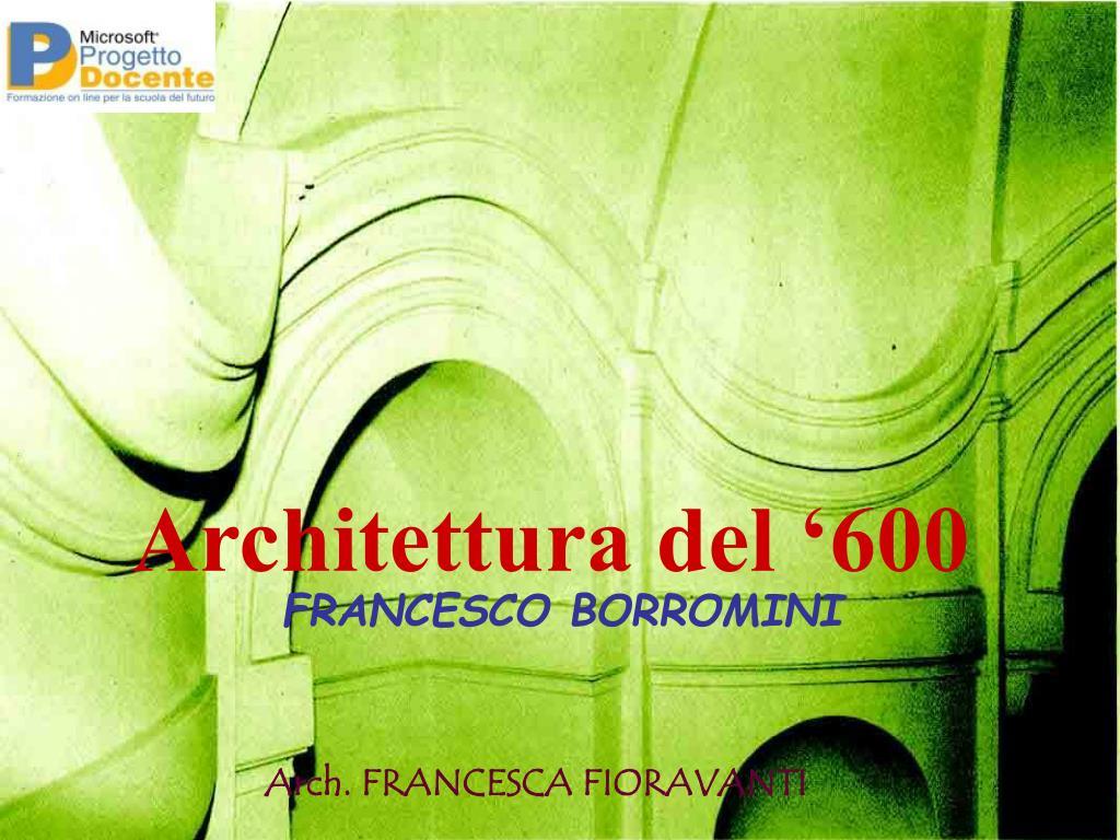 architettura del 600 l.