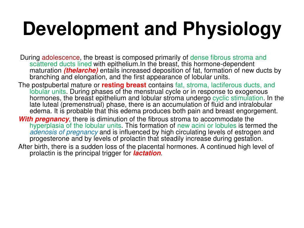 development and physiology l.