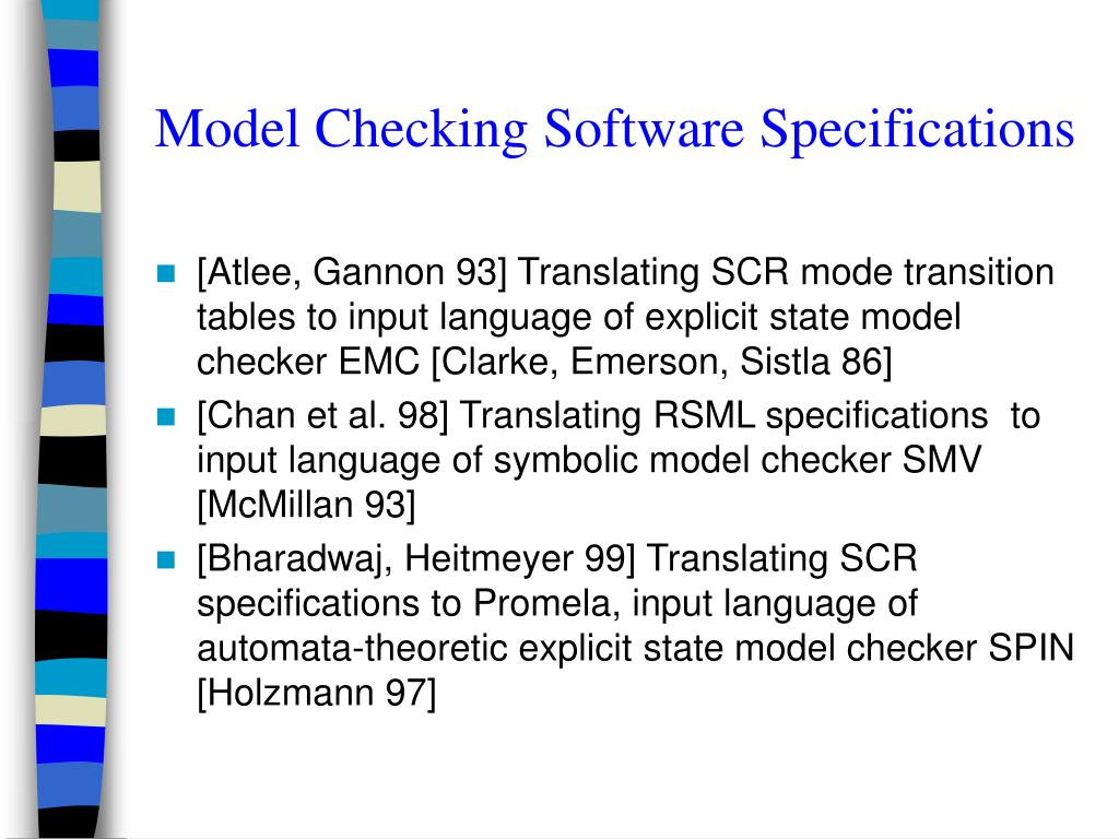 Model Checking Software Specifications