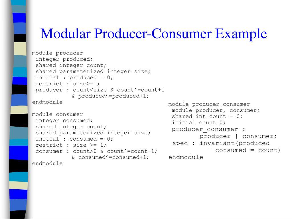 Modular Producer-Consumer Example