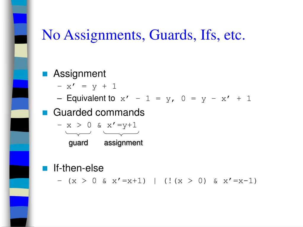 No Assignments, Guards, Ifs, etc.