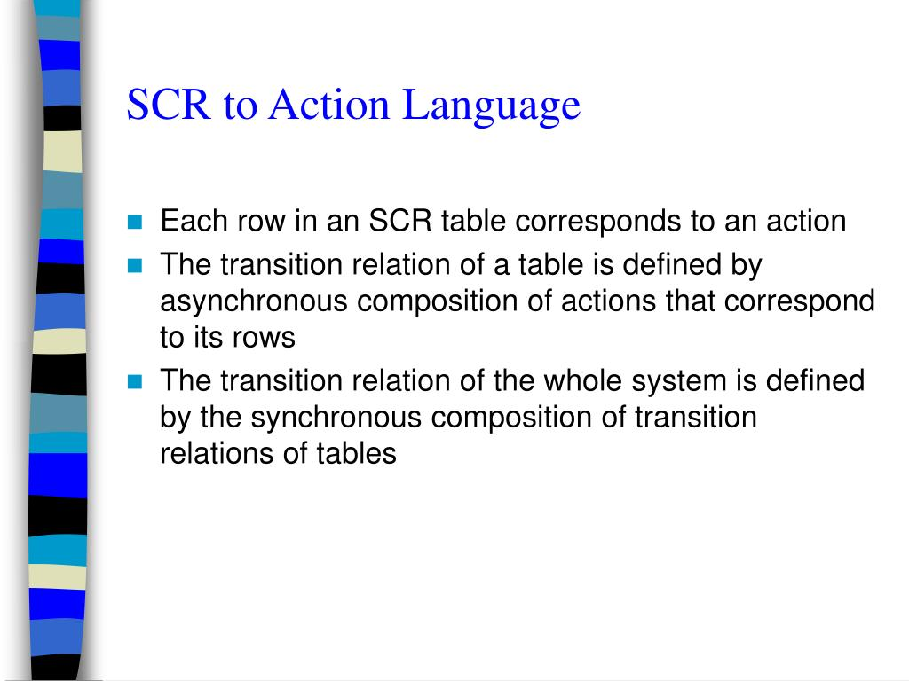 SCR to Action Language