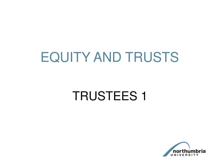 equity and trusts n.