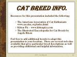 cat breed info