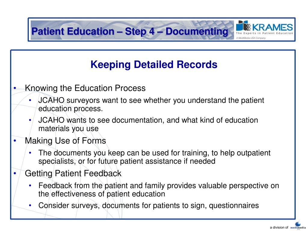 Patient Education – Step 4 – Documenting