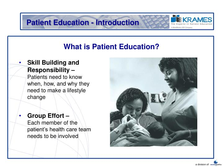 What is patient education