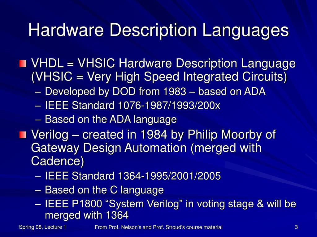 Hardware Description Languages