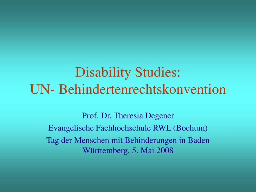 disability studies un behindertenrechtskonvention l.