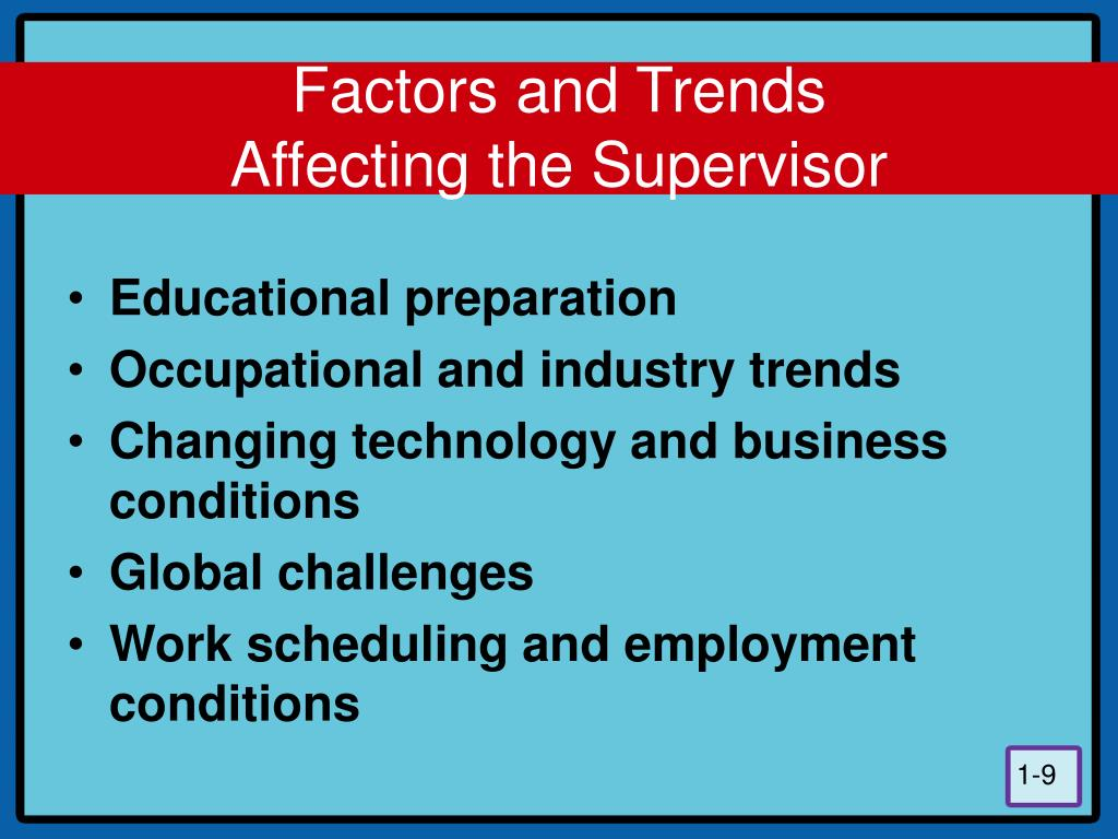 Factors and Trends
