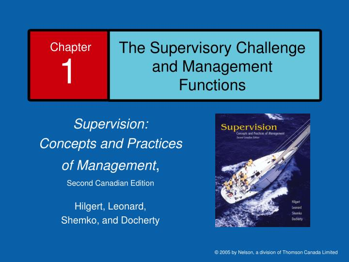 The supervisory challenge and management functions