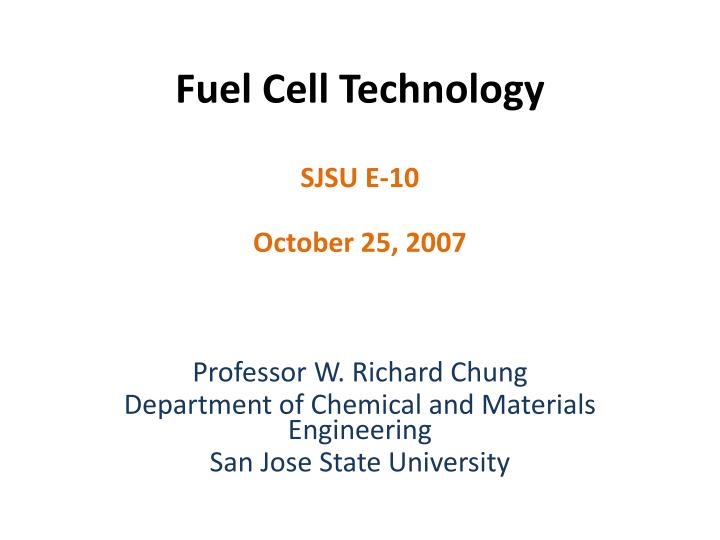 fuel cell technology n.
