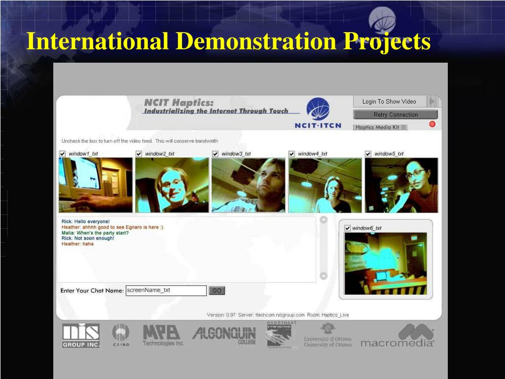 International Demonstration Projects
