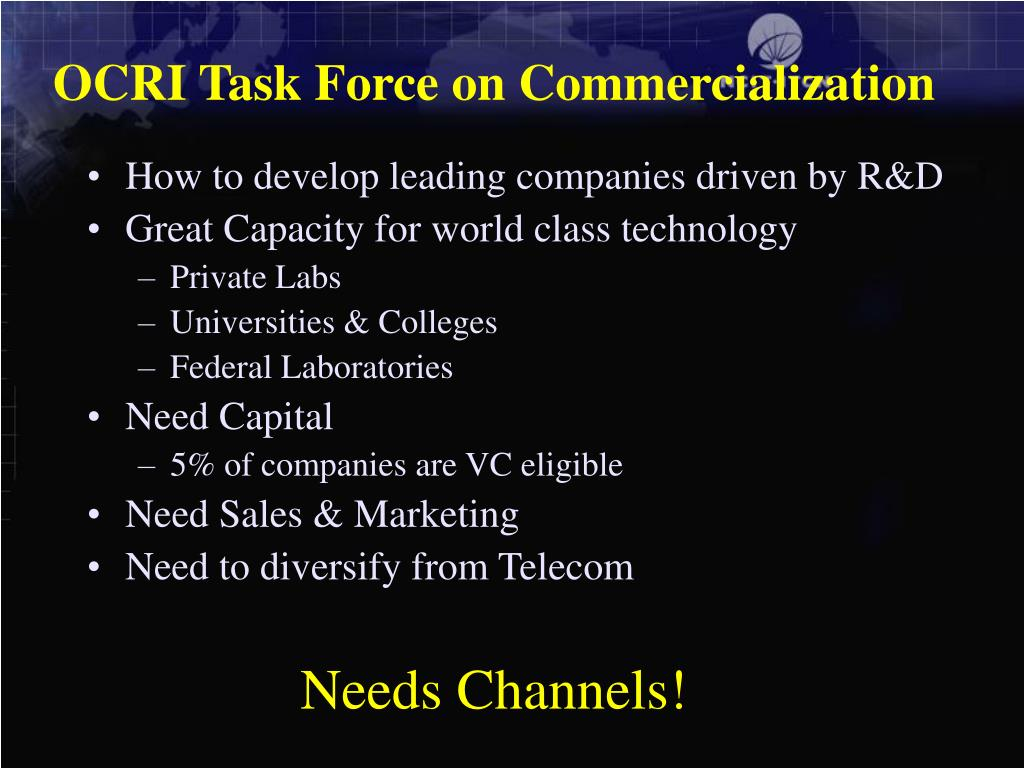OCRI Task Force on Commercialization