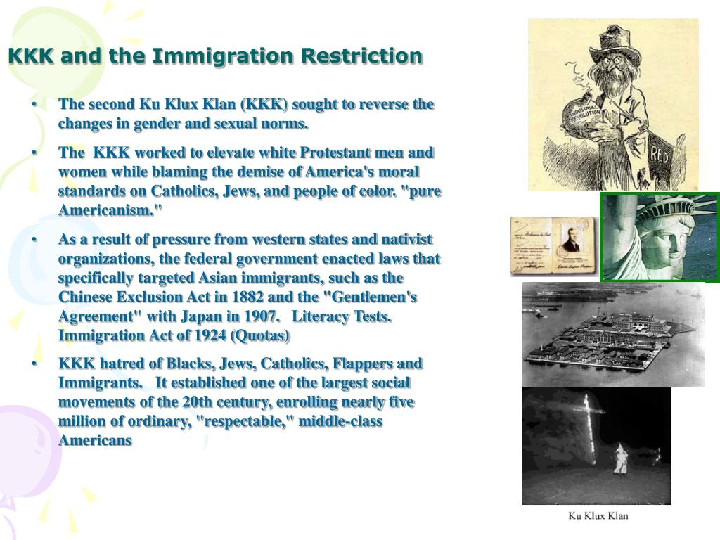 KKK and the Immigration Restriction