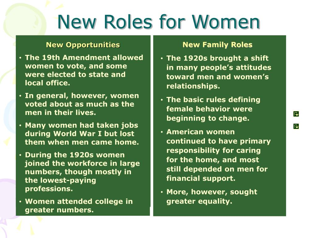 New Family Roles