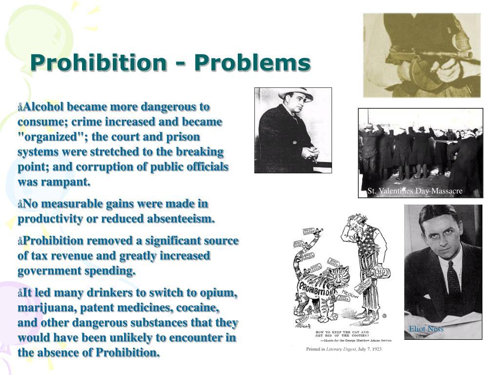 Prohibition - Problems