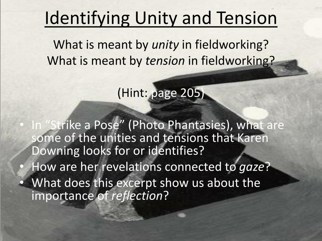 Identifying Unity and Tension
