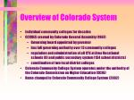 overview of colorado system
