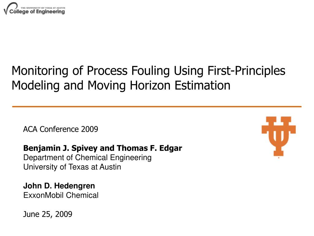 Monitoring of Process Fouling Using First-Principles Modeling and Moving Horizon Estimation