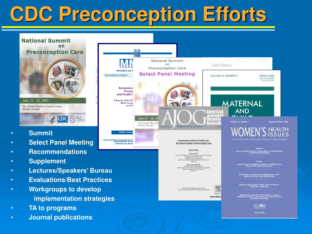 CDC Preconception Efforts