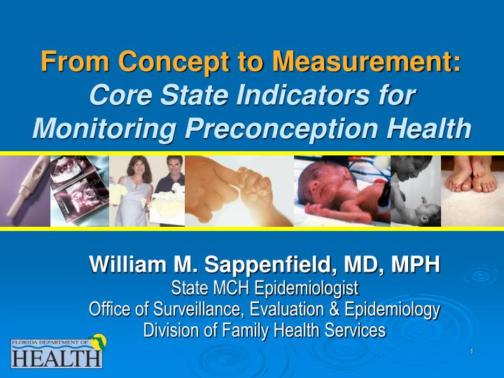 From concept to measurement core state indicators for monitoring preconception health