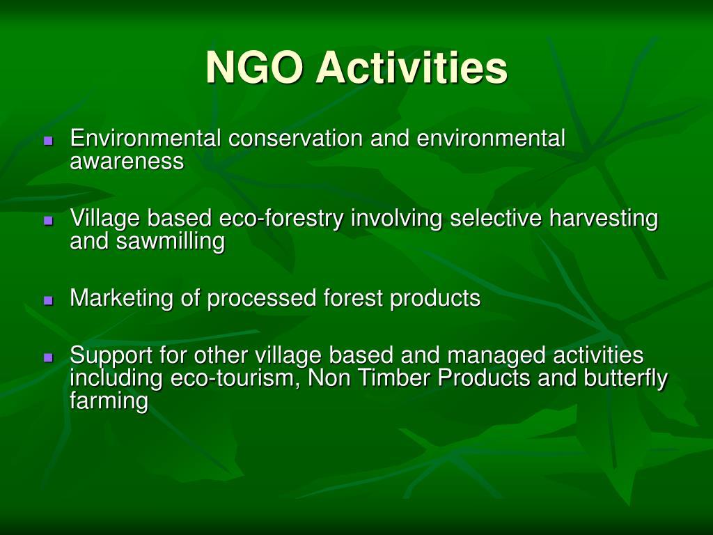 NGO Activities