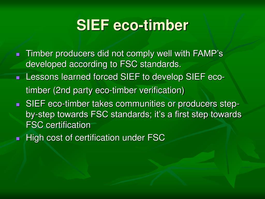 SIEF eco-timber