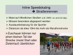inline speedskating stra enrennen