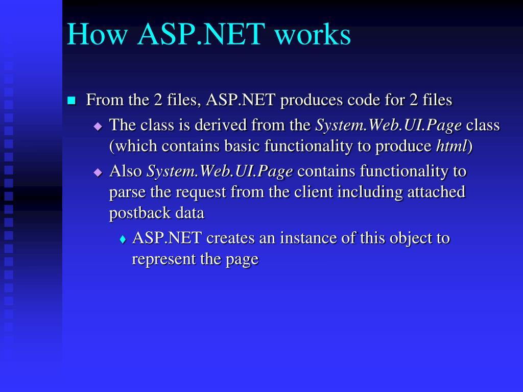 How ASP.NET works