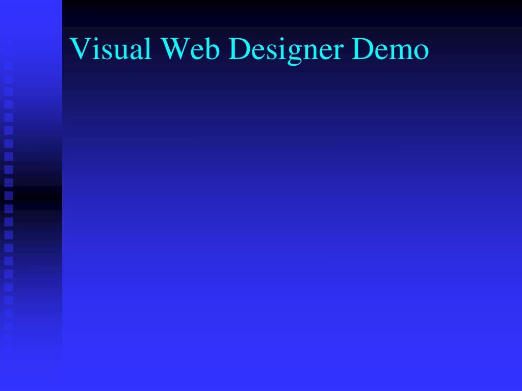 Visual Web Designer Demo