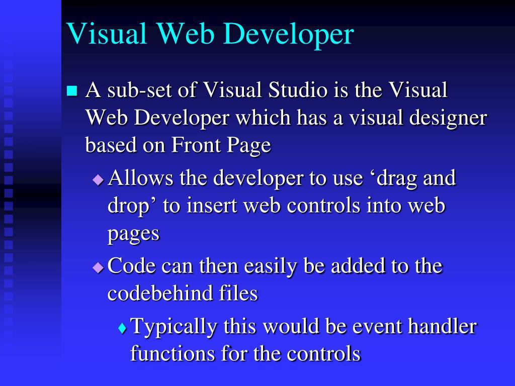 Visual Web Developer