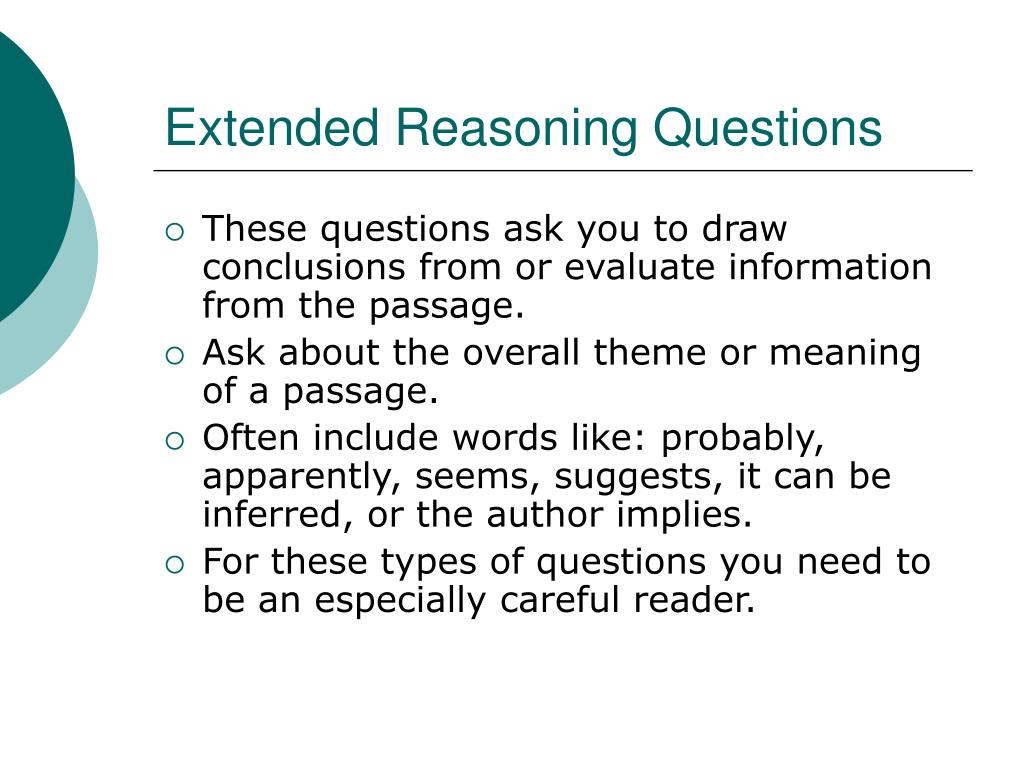 Extended Reasoning Questions