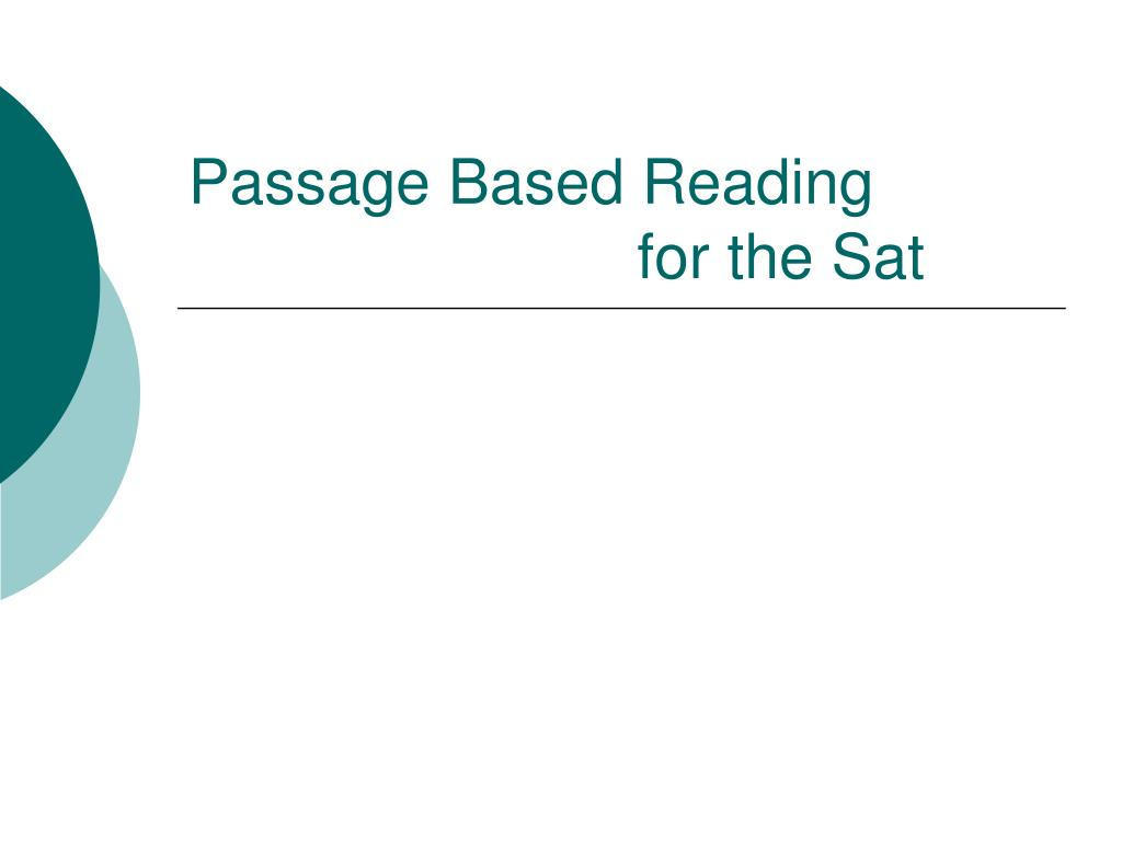 Passage Based Reading